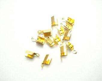 20 nuts 7x3mm gold metal caps