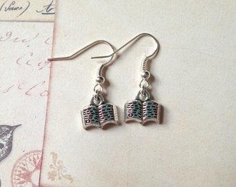 Book Earrings, writer earrings, book reader earrings jewellery, book lover gift, novel earrings, book lover earrings jewellery jewelry cute
