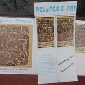 "Stamp collecting "" Polynesian Tahiti Legends"""