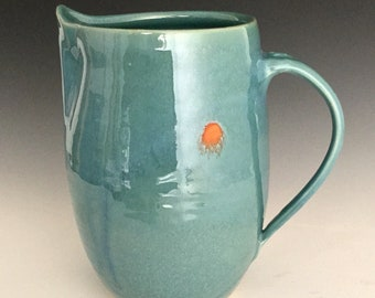 Stoneware Pitcher; Functional Ceramic Arts; Caribbean Sun