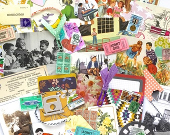 Retro Ephemera Pack/50+ Pieces/Mid Century Ephemera/Art Journaling/Junk Journaling/Mixed Media/Collage Art/Card Making