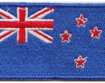 Small New Zealand Flag Iron On Patch 2.5 x 1.5 inch Free Shipping