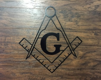 Mason Metal Sign        Metal Wall Art Decor Sign man cave garage free masonic