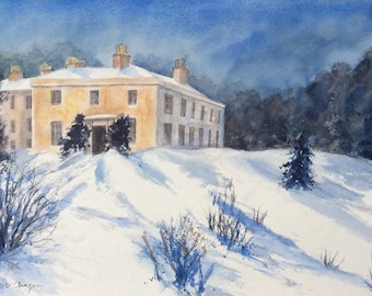 Enys in Snow, Cornwall
