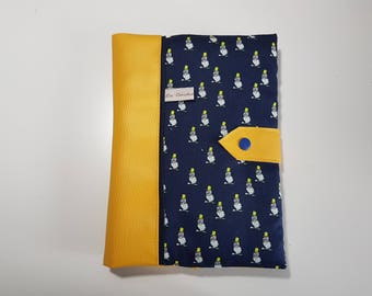 Protects health yellow leatherette and tissuhiboux 2 large flaps, neat work