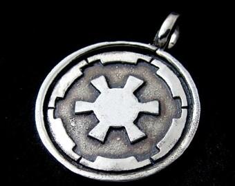 Silver Galactic Empire pendant
