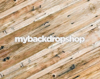 2ft x 2ft Rustic Wood Floor Drop for Photos or Backdrop for Product Photography - Diagonal Wood Background - Item 232