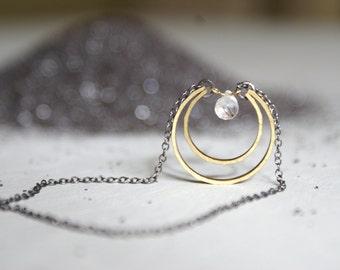 Crystal Moon Drop necklace