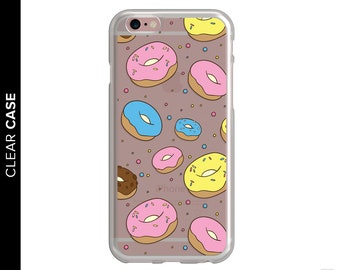 Clear Donut Phone Case, Clear iPhone Case, Donut Phone Case, iPhone 8 Donut Case, Clear Donut Case, Doughnut Phone Case, Food Phone Case
