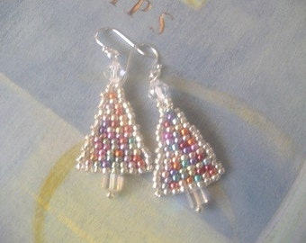 SALE TODAY ONLY Christmas Tree Dangle Earrings