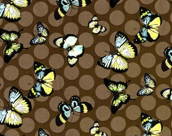 Butterfly fabric, quilting cotton fabric by the yard, designer fabric by Paula Prass for Michael Miller. Need more fabric yardage? Just ask.