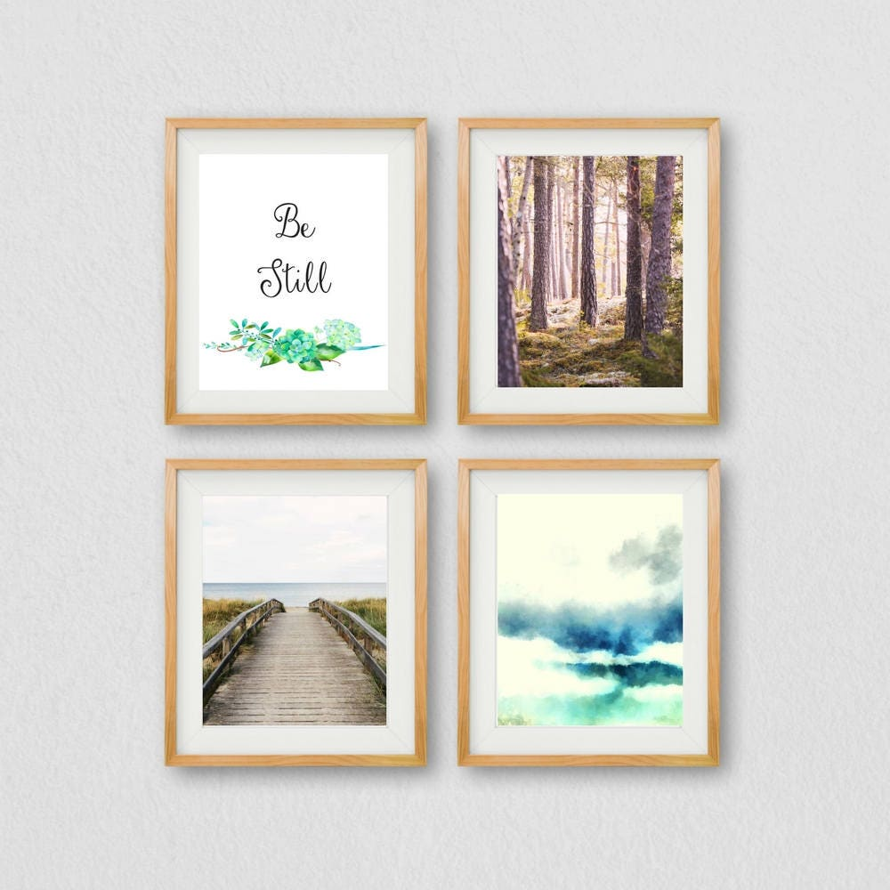 Be Still Quote Wall Art Meditation Prints Gallery Wall