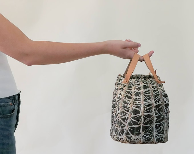 Cactus Bag w/leather straps