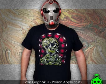 Van Gogh Skull Shirt by Poison Apple Shirts - Tattoo Art Shirts Indie Art Graphic Tees