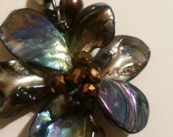 Blue Abalone Shell Daisey Jewerly Gift Set,Birthday