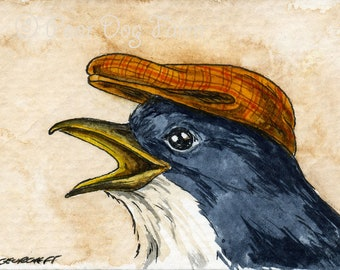 The Guam Flycatcher ~~ No 97 of 100 series- ~ signed watercolor print