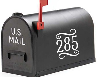 Decorative Mailbox Numbers Vinyl Decal | house numbers mailbox decals mailbox stickers curb appeal address numbers outdoor vinyl
