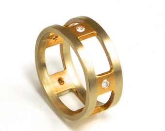 Wedding band, Custom Wedding bands, Unique Wedding band, hand-made wedding band, Diamond ring, Thick Ring, Custom Made rings, one of a kind