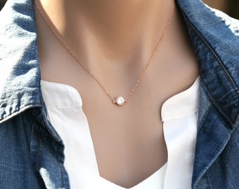 Sale-Tiny dot,CZ diamond dot necklace,CZ dot Necklace,Bridesmaid gifts,Wedding Bridal Jewelry