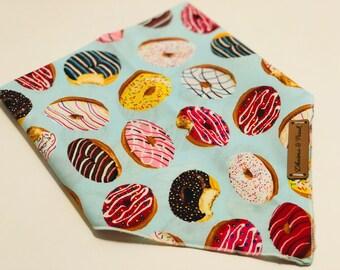 Donuts- Snap Bandana - sprinkle donut print