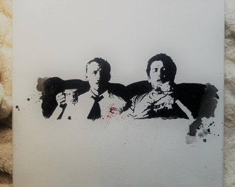 Shaun of the Dead - acrylic painting
