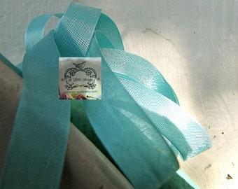 Rayon Seam Binding Ribbon Laguna Turquoise Blue