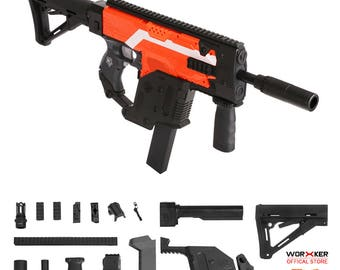 Worker MOD Kriss Vector Imitation Kit Black Combo for Nerf Stryfe Modify Toy