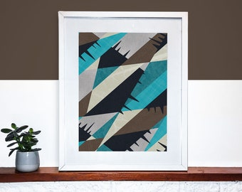 Geometric Print, Pattern Wall Art, Home Decor, Abstract Art, Digital Art Print