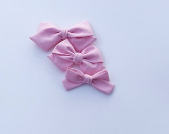 Pink tulip cotton tie bow