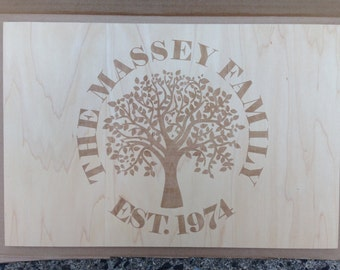 Custom Family Tree Wall Art/Tray