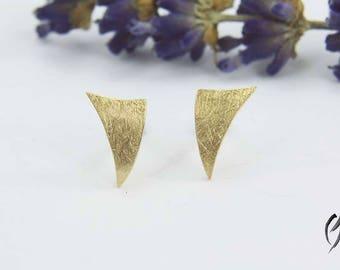 Stud Earrings Rosegold 585/-, small sail