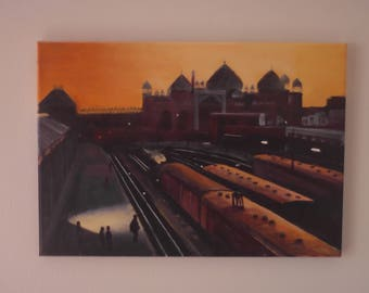 Dawn over Agra station.