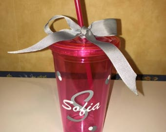 Personalized Tumbler - Name with initial - Free Shipping