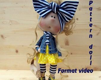 Video tutorials & Master classes|Textile doll tutorial, PDF Digital Pattern, Sewing Patterns, sewing, Pattern Decoration doll, Pattern toys