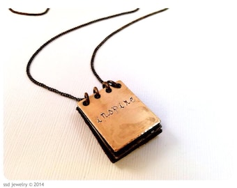Metal Notebook Necklace