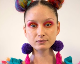 Pom Pom Tassel Earrings