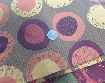 5 yards Lee Jofa upholstery fabric with circles