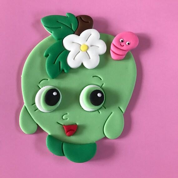 Shopkins Apple Blossom Inspired Cake Topper Fondant