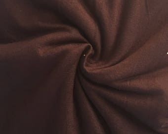 Deep Mocha Brown, Solid Rayon Spandex Knit Fabric
