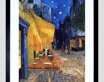 Van Gogh / Art Print / Cafe Terrace Painting / Place Du Forum Arles 1888 - FE2782OM