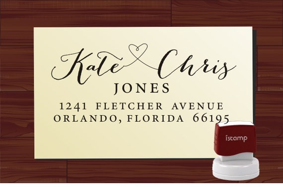 Personalized Stamps For Wedding Invitations: Wedding Invitation Custom Stamp Return Address Label Colored