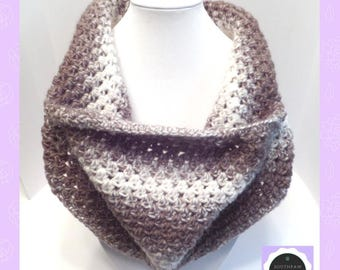 Easy CROCHET PATTERN, Cowl Pattern, Scarf Pattern, One Pattern Many Looks, Versatile Cozy Cowl, Instant Download PDF English Only