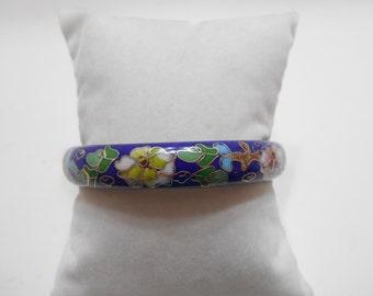 Gorgeous Vintage Cloissone Hinged Bangle Bracelet (3557)