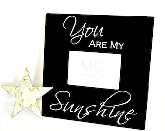 Wood Picture Frame You Are My Sunshine, Gift for Grandparents, Nursery Decor, Grandparents Gift, Picture Frame for Pets, You Are My Sunshine