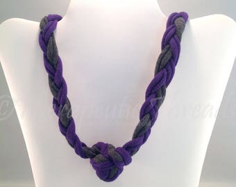 Sensory Jewelry size Medium Purple and gray