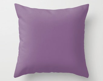 Chinese Violet Pillow, #856088, Solid Violet Throw Pillow, Solid Purple Pillow, Modern Pillow, Minimalist Decor, Minimalist Pillow