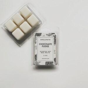 Chocolate Fudge Soy Wax Melts - 3 oz - Soy Wax Tarts - Wax Melts - Handmade