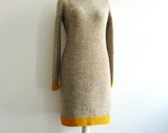Knit dress / gown made of wool (more colors)
