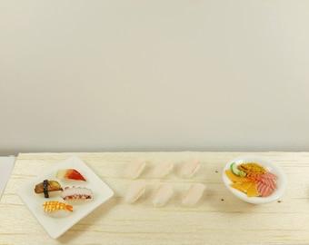 Miniature food, miniature sushi,food earrings, food jewelry, polymer clay jewelry, sushi studs , sushi earring, miniature japanese food