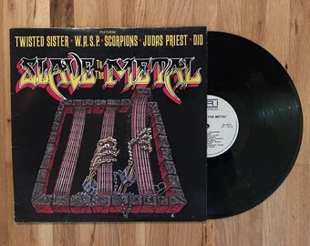 Slave to the Metal Vinyl LP 1986 Compilation Record Album